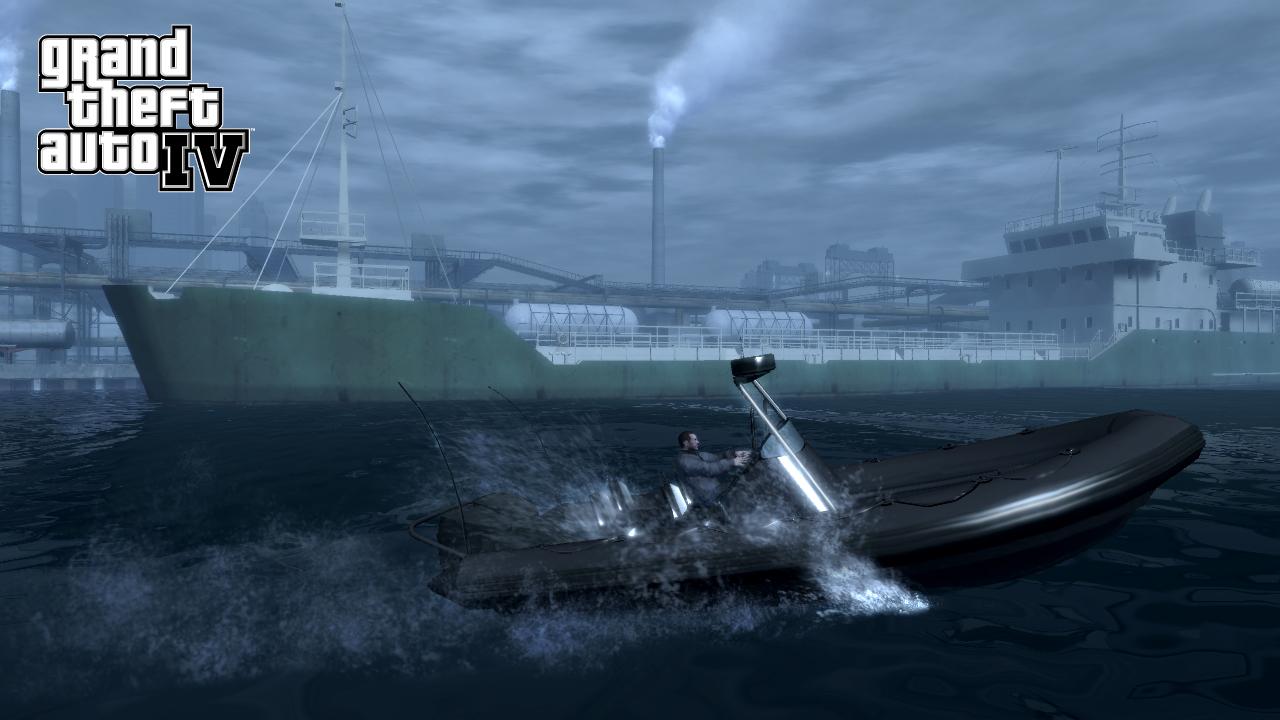 Затонувшая база под водой GTA 4