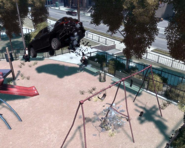 Качели в GTA 4