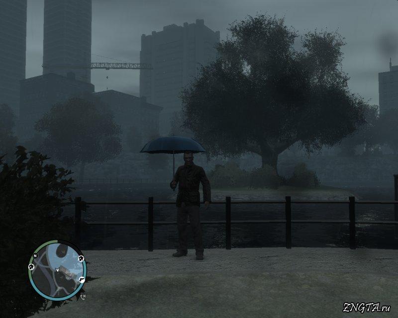 Девушка с зонтом GTA 4