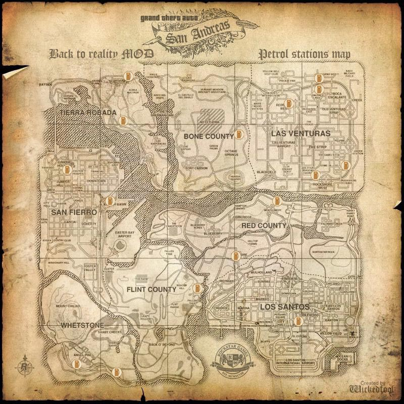 Скрипт бензин для GTA San Andreas Карта